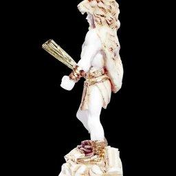 Greek alabaster statue of Hercules holding his club  3