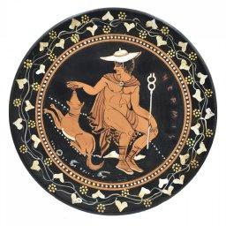 Greek ceramic plate depicting Hermes 1
