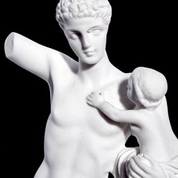 Hermes and the infant Dionysos of Praxiteles greek alabaster statue 3