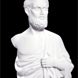 Hippocrates small greek alabaster statue 3