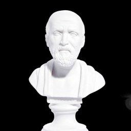 Hippocrates greek alabaster bust statue 1