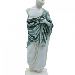 Hippocrates, greek alabaster statue with color 1
