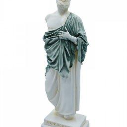 Hippocrates, greek alabaster statue with color 2
