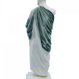 Hippocrates, greek alabaster statue with color 3