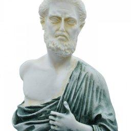 Hippocrates, greek alabaster statue with color 4