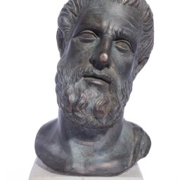 Hippocrates (Ippokrates) green greek plaster bust statue  1