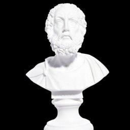 Homer alabaster bust statue 1