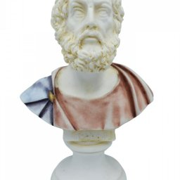 Homer alabaster bust statue with color 1