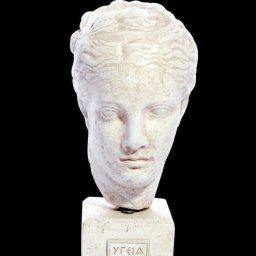 Hygieia (or Hygeia) greek plaster bust statue 1