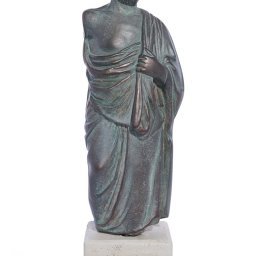 Hippocrates (Ippokrates) green greek plaster statue  1