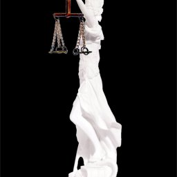 Themis the greek goddess of justice, holding the Scales of Justice and a sword 2