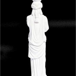 Small greek alabaster statue of Caryatid  2
