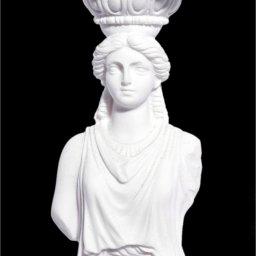Small greek alabaster statue of Caryatid  3