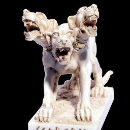 Cerberus greek alabaster statue 1