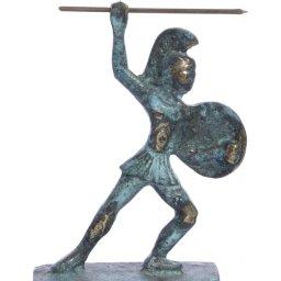 Leonidas king of Sparta greek bronze statue 1