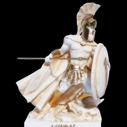Leonidas Statue, King Of Sparta, Alabaster Sculpture 1