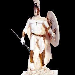 Leonidas king of the Sparta alabaster statue 1