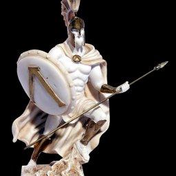 Leonidas king of the Sparta greek alabaster statue 1