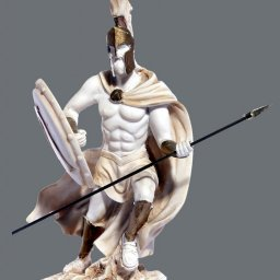 Leonidas king of the Sparta greek alabaster statue 3
