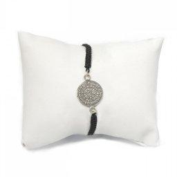 Phaistos Disc silver macrame bracelet 1