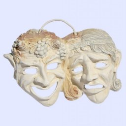 Comedy and drama greek plaster mask statue 1