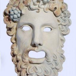 Dionysus medium greek plaster mask 1