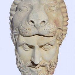 Hercules large greek plaster mask 1