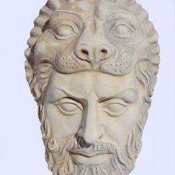 Hercules medium plaster greek mask 1