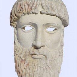 Poseidon large plaster greek mask 1
