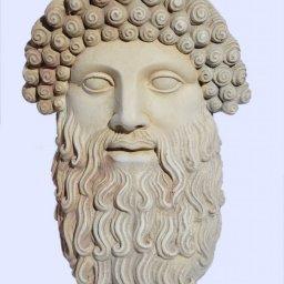 Zeus large plaster greek mask 1