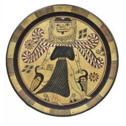 Greek ceramic plate depicting Medusa 1