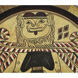 Greek ceramic plate depicting Medusa 2