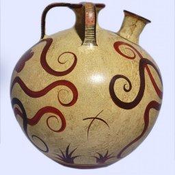 Minoan Greek false - neck amphora with an octopus 2