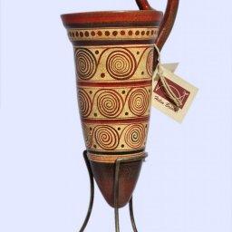 Minoan ceramic rhyton with spiral motifs 1