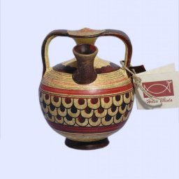 Late Minoan small stirrup jur with geometric decoration 1