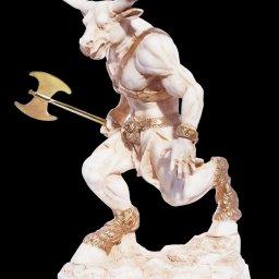 Minotaur with axe greek alabaster statue 1