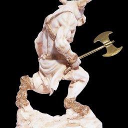 Minotaur with axe greek alabaster statue 2