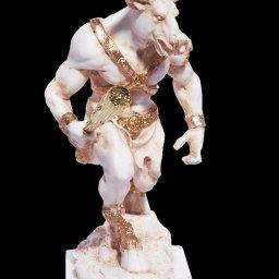 Minotaur greek alabaster statue 2