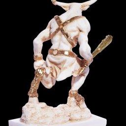 Minotaur greek alabaster statue 3