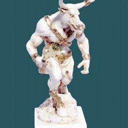 Minotaurus greek alabaster statue 2