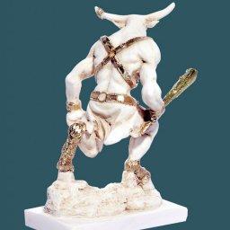 Minotaurus greek alabaster statue 3