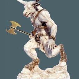 Minotaurus with axe greek alabaster statue 1