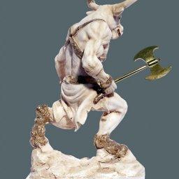 Minotaurus with axe greek alabaster statue 2