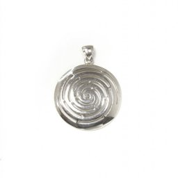 Small greek spiral pendant the symbol of life 1