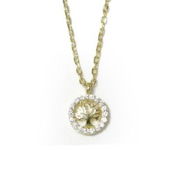 Tree of life gold plated silver necklace with zircon 1