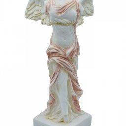 Nike of Samothrace greek alabaster statue with color 2