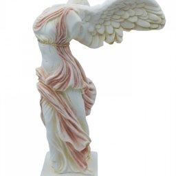 Nike of Samothrace greek alabaster statue with color 3