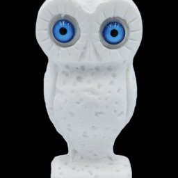 Owl small alabaster statue, the symbol of wisdom (No.3) 1