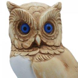 Owl medium alabaster statue with color, the symbol of wisdom 4