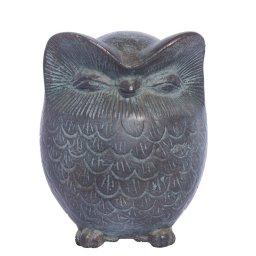Owl green plaster statue, the symbol of wisdom (No.1) 1
